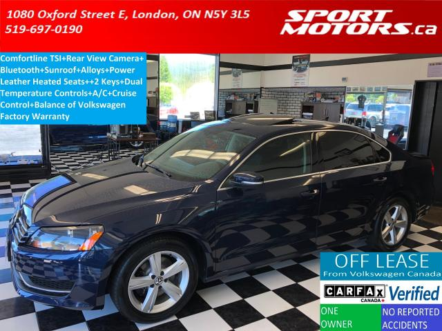 2015 Volkswagen Passat COMFORTLINE+Camera+Sunroof+Leather Heated Seats+XM