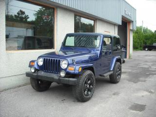 Used 2002 Jeep TJ SE 2 portes, quatre roues motrices for sale in Repentigny, QC