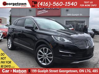 Used 2016 Lincoln MKC Select|AWD|PUSH-START|LTHR|PANO ROOF|NAV|B/UP CAM| for sale in Georgetown, ON