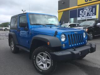 Used 2016 Jeep Wrangler SPORT 4X4 TOIT RIGIDE for sale in Lévis, QC
