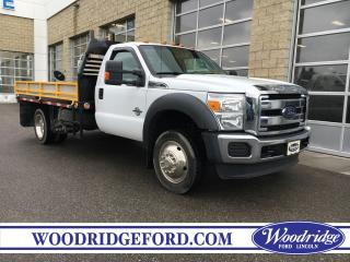 Used 2015 Ford F-550 Chassis XLT 6.7L V8 DIESEL, FLAT DECK INCLUDED, NO ACCIDENTS. for sale in Calgary, AB