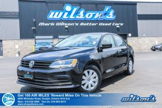 Used 2015 Volkswagen Jetta 5-SPD Manual with New Tires! Bluetooth, Rear Camera, Cruise Control, Power Package and more! for sale in Guelph, ON