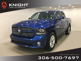 Used 2017 RAM 1500 Sport Crew Cab | Heated Seats and Steering Wheel | Remote Start for sale in Regina, SK