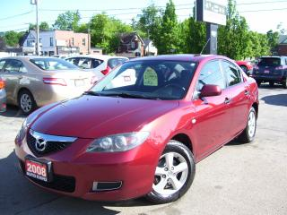 Used 2008 Mazda MAZDA3 CERTIFIED,NO RUST,NO ACCIDENT,TINTED,NEW BRAKES for sale in Kitchener, ON