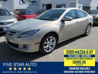 Used 2009 Mazda MAZDA6 GT *1 Owner* Certified w/ 6 Month Warranty for sale in Brantford, ON