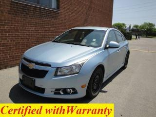 Used 2012 Chevrolet Cruze ONE OWNER/NO ACCIDENTS/SAFETY AND WARRANTY for sale in Oakville, ON