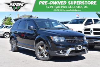 Used 2015 Dodge Journey Crossroad - One Owner, FWD, Roof Rack, Sunroof, Ba for sale in London, ON
