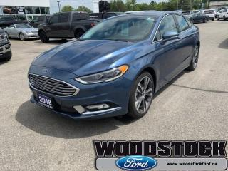 Used 2018 Ford Fusion Titanium  - Leather Seats -  Bluetooth for sale in Woodstock, ON