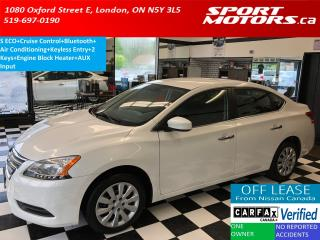Used 2014 Nissan Sentra S ECO+Bluetooth+Cruise Control+A/C+AUX Input for sale in London, ON