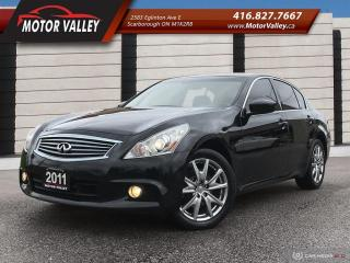 Used 2011 Infiniti G37 G37x S Sports Navigation No Accident! for sale in Scarborough, ON