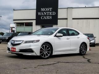 Used 2015 Acura TLX SH-AWD   TECH PKG   3.5L   6 CYL   NAV   BLIND   ESPRESSO LEATHER for sale in Kitchener, ON