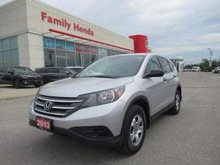 Used 2013 Honda CR-V LX, REVERSE CAM, HEATED SEATS for sale in Brampton, ON