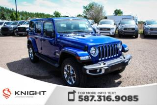 Used 2019 Jeep Wrangler Unlimited Sahara | Heated Seats and Steering Wheel | Navigation | Remote Start for sale in Medicine Hat, AB