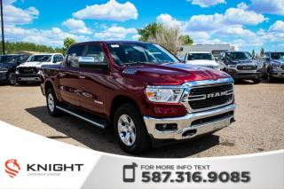 New 2019 RAM 1500 Big Horn Crew Cab | Heated Seats and Steering Wheel | Remote Start | RamBox for sale in Medicine Hat, AB