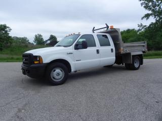 Used 2007 Ford F-350 CREW CAB DIESEL DUMP TRUCK- ALUMINUM BOX for sale in Brantford, ON