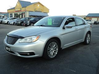 Used 2012 Chrysler 200 Limited 3.6L MoonRoof LeatherHeatedSeatsRemoteStar for sale in Brantford, ON