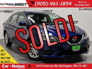 Used 2019 Nissan Sentra 1.8 SV| SUNROOF| APPLE CARPLAY & ANDROID AUTO| for sale in Burlington, ON