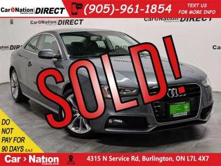 Used 2015 Audi A5 2.0T Komfort quattro| SUNROOF| LOW KM'S| for sale in Burlington, ON