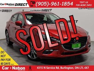 Used 2018 Mazda MAZDA3 Sport GT| LEATHER| SUNROOF| BLIND SPOT DETECTION| for sale in Burlington, ON