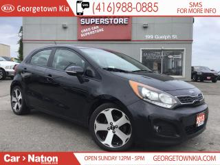 Used 2013 Kia Rio SX w/UVO | LEATHER | SUNROOF | BU CAM | 1 OWNER for sale in Georgetown, ON