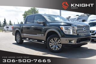 New 2019 Nissan Titan Platinum Reserve | Crew Cab | Leather | Heated Seats | Remote Start | for sale in Swift Current, SK