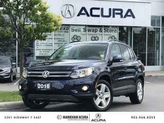 Used 2016 Volkswagen Tiguan Comfortline 2.0T 6sp at w/Tip 4M Pano Roof, CarPlay/Android *AUTO*, Bluetooth for sale in Markham, ON
