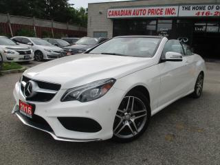 Used 2016 Mercedes-Benz E-Class E 400-CABRIOLET-NAVIGATION-LEATHER-CAMERA-BLUETOOT for sale in Scarborough, ON