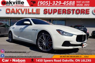 Used 2017 Maserati Ghibli SQ4 | SPORT CARBON PACKAGE | RED STITCH | CARPLAY for sale in Oakville, ON