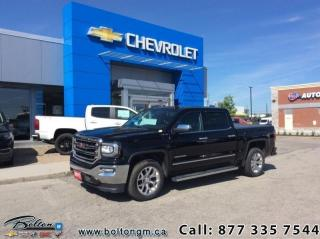 Used 2017 GMC Sierra 1500 SLT  - Leather Seats -  Heated Seats - $328 B/W for sale in Bolton, ON