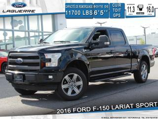 Used 2016 Ford F-150 Lariat Sport 4x4 for sale in Victoriaville, QC
