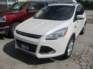 Used 2015 Ford Escape FOUR-WHEEL DRIVE TITANIUM EDITION 5 PASSENGER 2.0L - ECO-BOOST.. LEATHER.. HEATED SEATS.. NAVIGATION.. PANORAMIC SUNROOF.. BACK-UP CAMERA.. for sale in Bradford, ON