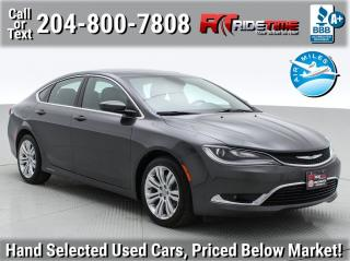 Used 2015 Chrysler 200 Limited for sale in Winnipeg, MB