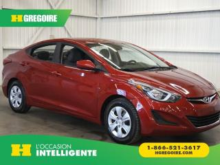 Used 2016 Hyundai Elantra L GR. ÉLECTRIQUE for sale in St-Léonard, QC