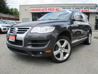 Used 2010 Volkswagen Touareg Comfort-TDI-AWD-NAVI-LTHER-CAMERA-ROOF-BLUETOOTH-H for sale in Scarborough, ON