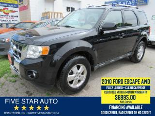 Used 2010 Ford Escape Limited AWD *Clean Carproof* Certified w/ Warranty for sale in Brantford, ON