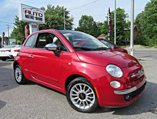 Used 2014 Fiat 500 C Décapotable 2 portes Lounge Cuir A/C Blu for sale in Repentigny, QC