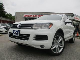 Used 2012 Volkswagen Touareg Highline-TDI-AWD-NAVI-PANO-ROOF-BLUETOOTH-HEATED for sale in Scarborough, ON