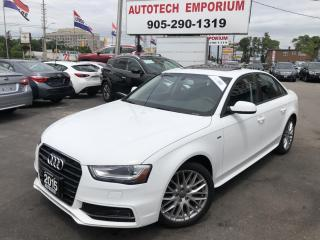 Used 2015 Audi A4 S Line Quattro Komfort S-line Leather/Sunroof&GPS* for sale in Mississauga, ON