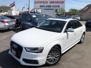 Used 2015 Audi A4 Quattro Komfort S-line Leather/Sunroof&GPS for sale in Mississauga, ON