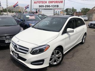 Used 2015 Mercedes-Benz B-Class B250 4MATIC AWD Navigation/Htd Leather/Sunroof/Alloys for sale in Mississauga, ON