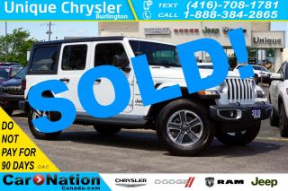 Used 2018 Jeep Wrangler Unlimited SAHARA| ALPINE| DUAL TOP| COLD WEATHER GRP for sale in Burlington, ON