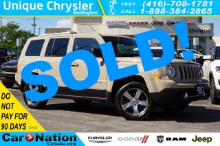 Used 2017 Jeep Patriot HIGH ALTITUDE| 4X4| NAV| LEATHER| SUNROOF & MORE for sale in Burlington, ON