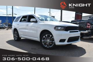 Used 2019 Dodge Durango GT | Leather | Low KMs | Heated Seats & Steering Wheel | Bluetooth | for sale in Swift Current, SK