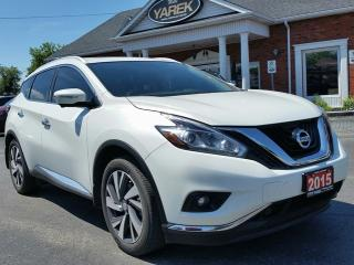 Used 2015 Nissan Murano Platinum AWD, Leather Heated/Vented Seats, Pano Roof, NAV, Remote Start, Back Up Cam for sale in Paris, ON