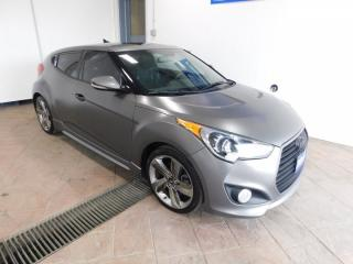 Used 2015 Hyundai Veloster Turbo w/Matte Grey LEATHER NAVI SUNROOF *MANUAL* for sale in Listowel, ON