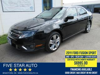 Used 2011 Ford Fusion SPORT AWD - Certified w/ 6 Month Warranty for sale in Brantford, ON