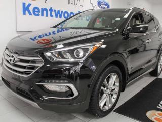 Used 2017 Hyundai Santa Fe Sport Sport 2.0T Ultimate AWD with NAV, sunroof, heated/cooled power leather seats, heated steering wheel, heated rear seats, power liftgate for sale in Edmonton, AB