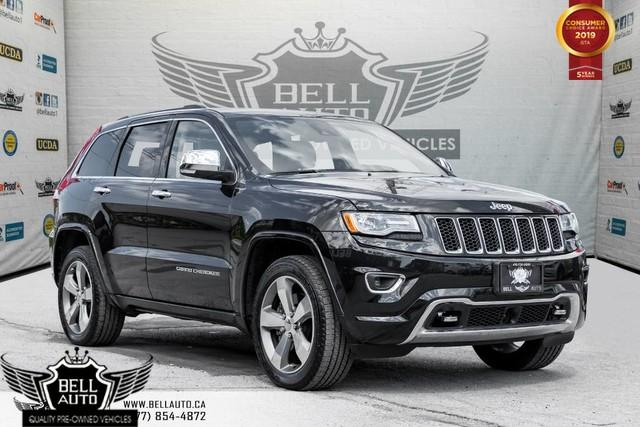 2015 Jeep Grand Cherokee Overland, AWD, V8, NAVI, BACK-UP CAM, PANO ROOF, SENSOR