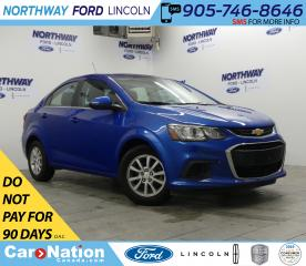 Used 2018 Chevrolet Sonic LT | KEYLESS ENTRY | BACKUP CAM | TOUCH SCREEN | for sale in Brantford, ON