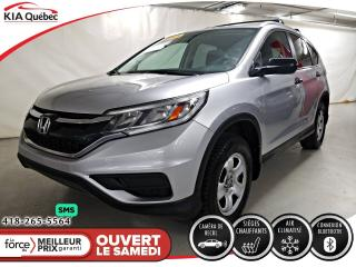 Used 2015 Honda CR-V LX* SIEGES CHAUFFANTS* CAMERA*  A/C* BLUETOOTH* for sale in Québec, QC